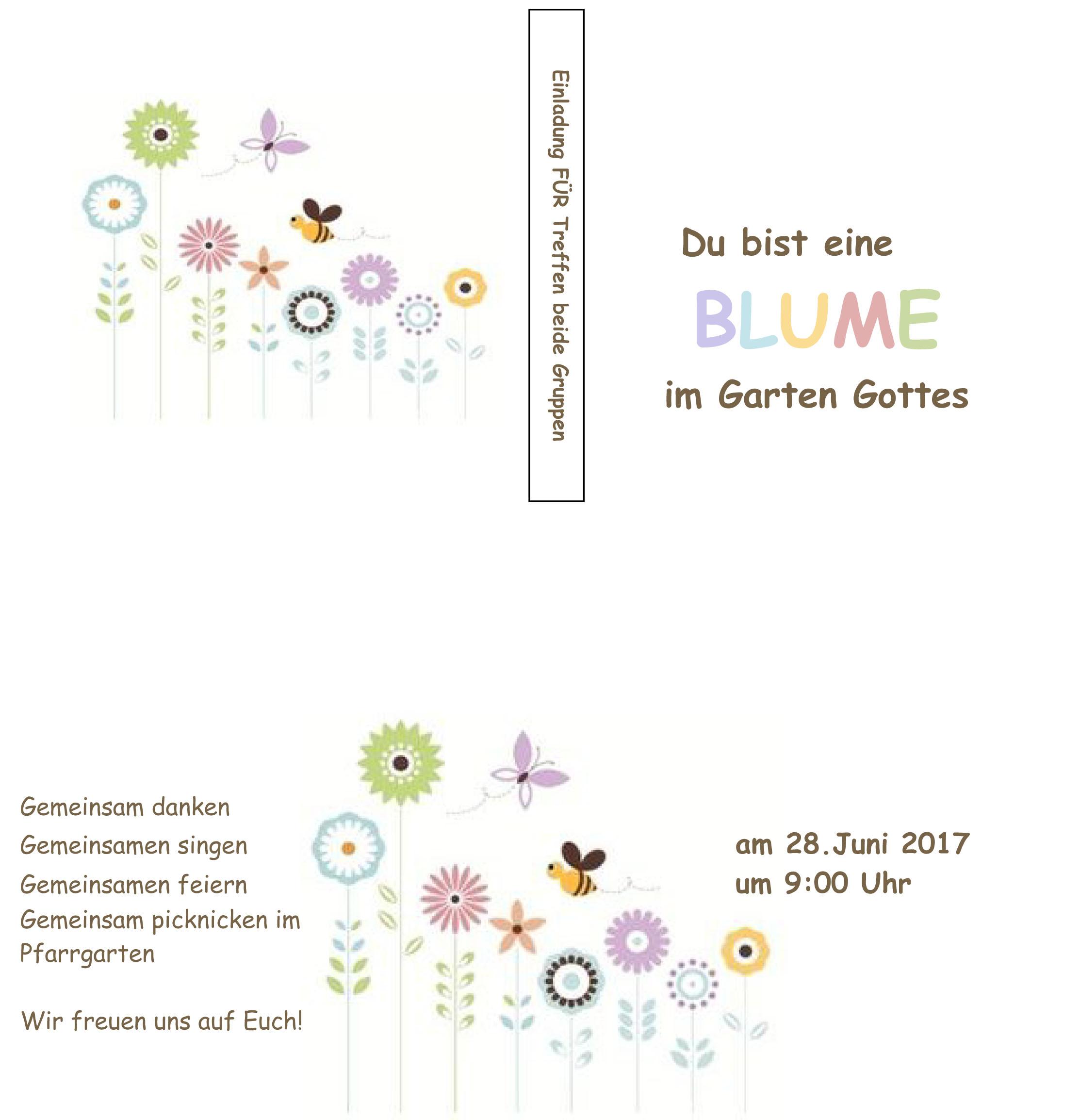 Einladung zur gemeinsamen Abschlussfeier Für-Treffen